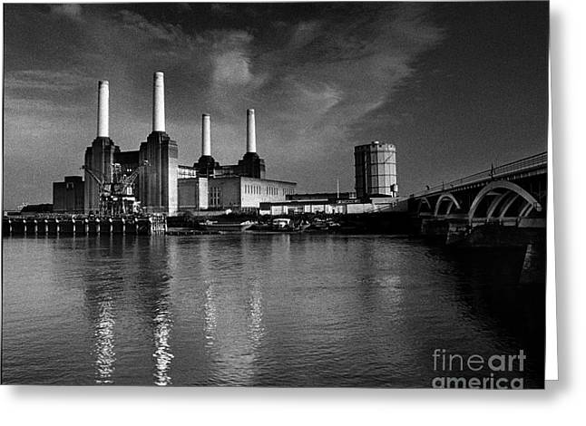 Battersea Power Station Greeting Card by Aldo Cervato