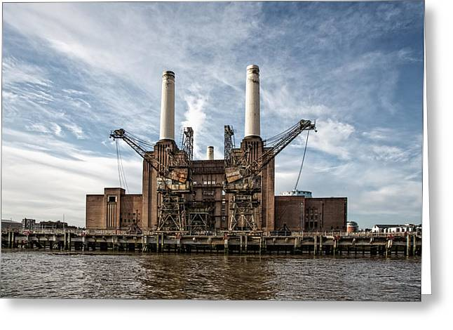Hdr Landscape Greeting Cards - Battersea Power Station Greeting Card by Tim Booth