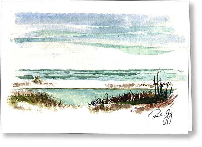Mississippi Gulf Coast Greeting Cards - Battery Payne Fort Pickens Florida Greeting Card by Paul Gaj