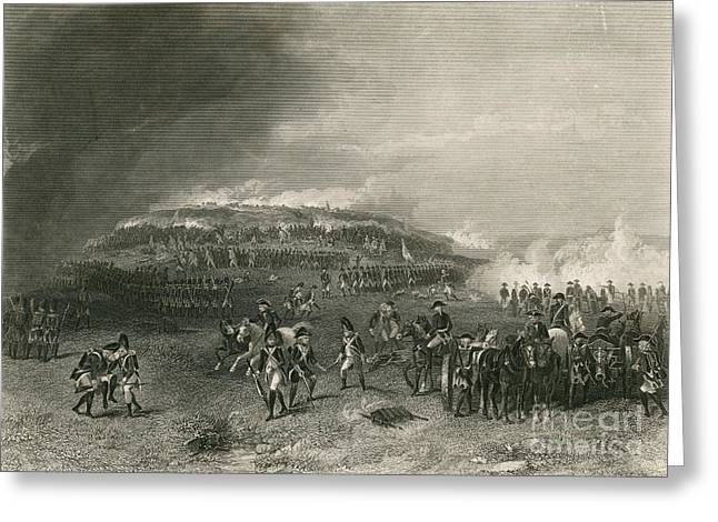 Bunker Hill Greeting Cards - Battle Of Bunker Hill, 1775 Greeting Card by Photo Researchers
