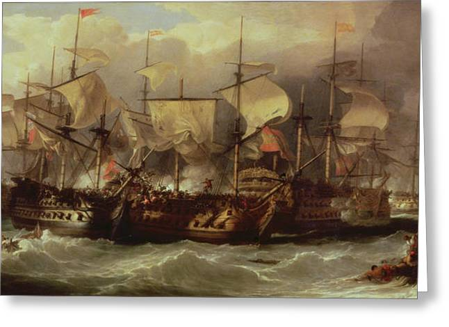 February Greeting Cards - Battle of Cape St Vincent Greeting Card by Sir William Allan