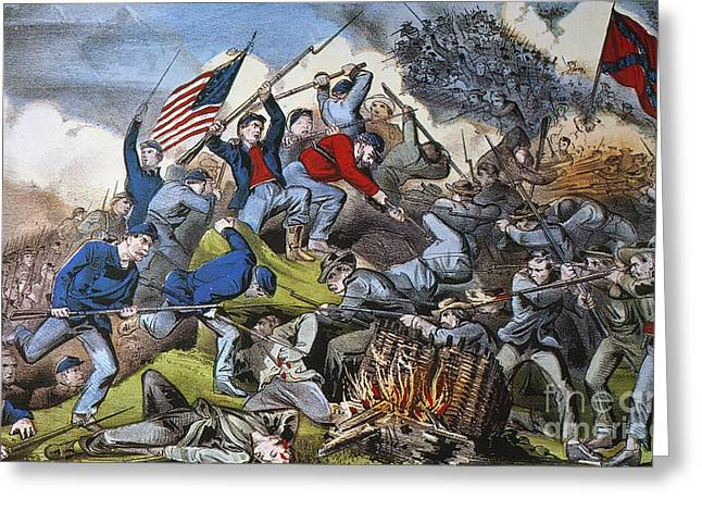Confederate Flag Greeting Cards - Battle Of Chattanooga 1863 Greeting Card by Granger
