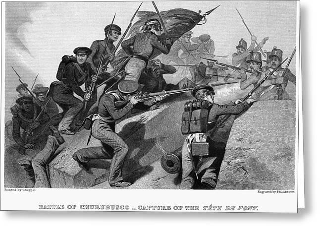 Bayonet Greeting Cards - Battle Of Churubusco, 1847 Greeting Card by Granger