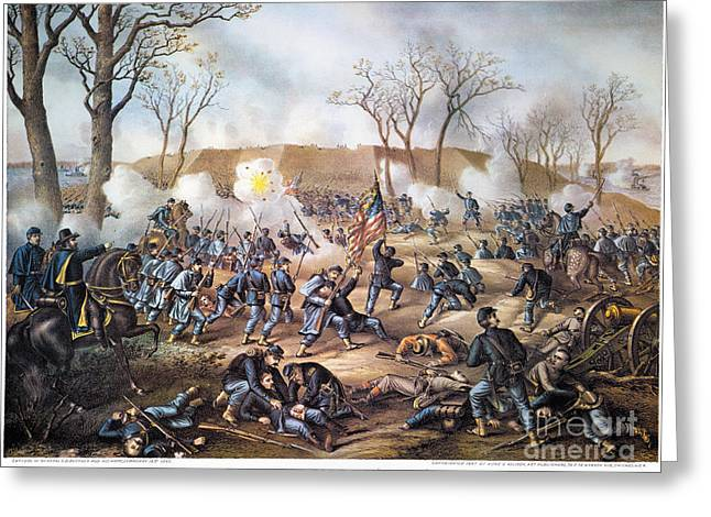 Confederate Flag Greeting Cards - Battle Of Fort Donelson Greeting Card by Granger