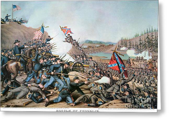 Franklin Tennessee Greeting Cards - Battle Of Franklin, 1864 Greeting Card by Granger