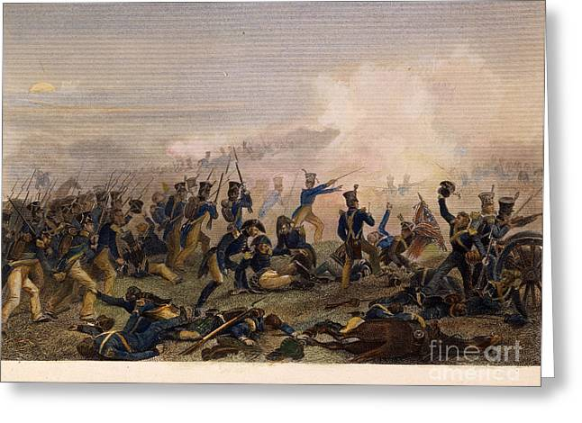 1814 Greeting Cards - Battle Of Lundys Lane, 1814 Greeting Card by Granger