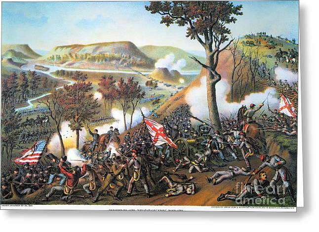 Confederate Flag Greeting Cards - Battle Of Missionary Ridge Greeting Card by Granger