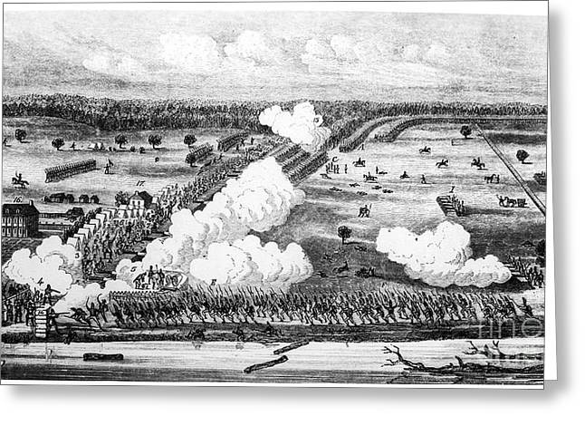 Hyacinthe Greeting Cards - Battle Of New Orleans, 1815 Greeting Card by Granger