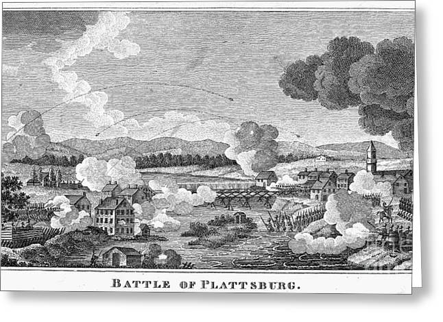 Champlain Greeting Cards - Battle Of Plattsburg, 1814 Greeting Card by Granger