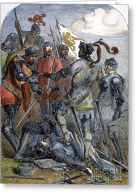 Warwick Greeting Cards - Battle Of Poitiers Greeting Card by Granger