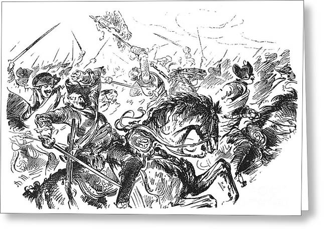 Menzel Greeting Cards - Battle Of Rossbach, 1757 Greeting Card by Granger
