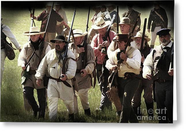 Kim Henderson Greeting Cards - Battle of San Jacinto Greeting Card by Kim Henderson
