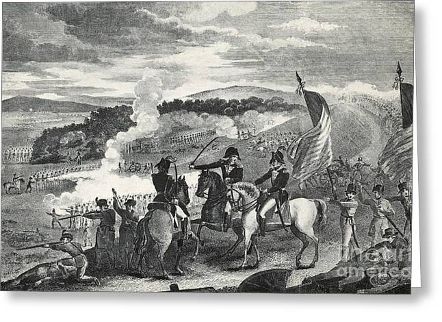 Continental Army Victory Greeting Cards - Battle Of Saratoga, 1777 Greeting Card by Photo Researchers