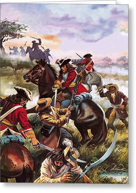 Andrew Howart Greeting Cards - Battle of Sedgemoor Greeting Card by Andrew Howart