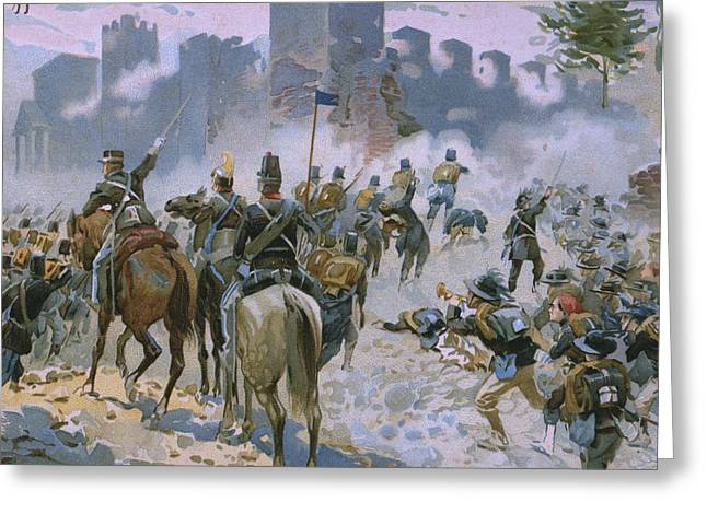 Nationalists Greeting Cards - Battle of Solferino and San Martino Greeting Card by Italian School