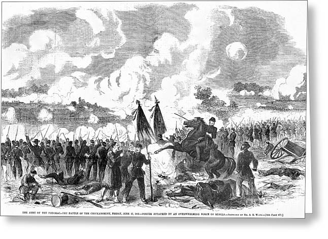 Confederate Flag Greeting Cards - Battle Of The Chickahominy Greeting Card by Granger