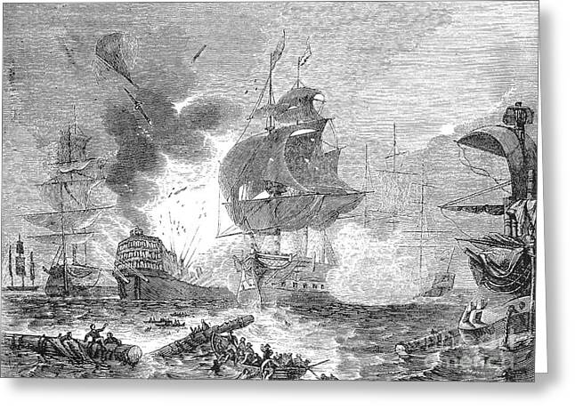 Battle Of The Nile, 1798 Greeting Card by Granger