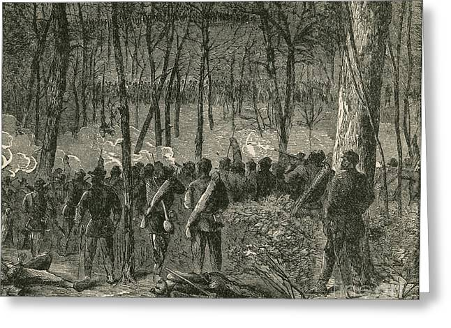 The General Lee Greeting Cards - Battle Of The Wilderness, 1864 Greeting Card by Photo Researchers