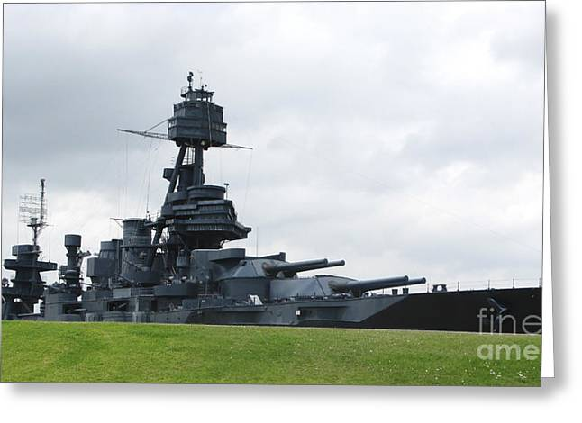 Dreadnought Greeting Cards - Battleship Uss Texas Greeting Card by Michael Wood