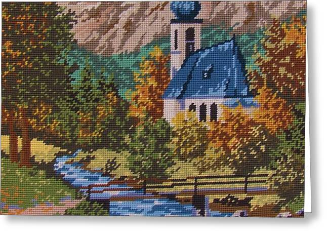 Bavarian Country Greeting Card by M and L Creations Art Craft Boutique