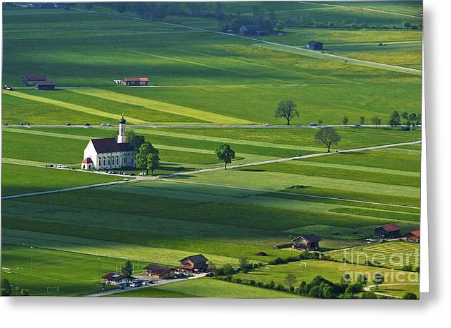 Deutschland Greeting Cards - Bavarian countryside Greeting Card by Andrew  Michael