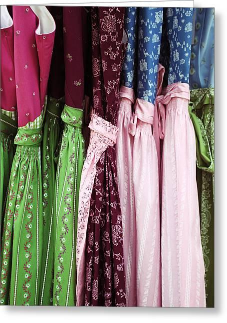 Bavarian Dresses Greeting Card by Lauri Novak