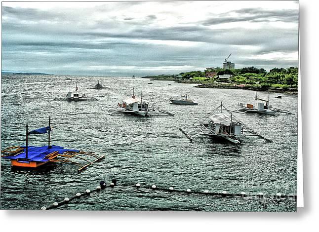 Bay Of Mactan Island Philippines Greeting Card by Anita Antonia Nowack