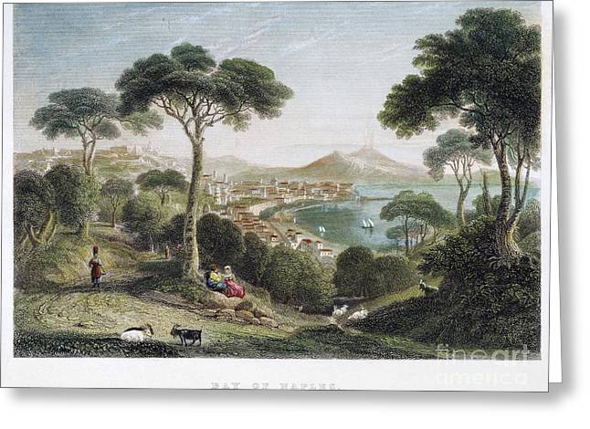 Italian Landscapes Greeting Cards - BAY OF NAPLES, 19th CENTURY Greeting Card by Granger