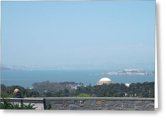 Bench Prison Greeting Cards - Bay Overlook Greeting Card by Joshua Sunday
