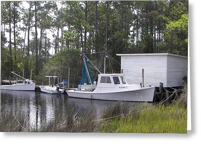 Bay Shrimper Greeting Card by KEVIN BRANT