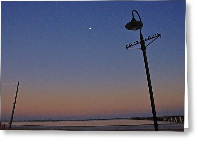 Suzanne Clark Greeting Cards - Bay St Louis light Greeting Card by Suzanne E Clark