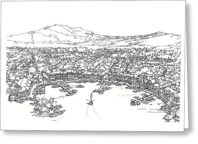 Development Drawings Greeting Cards - Bayfront Greeting Card by Andrew Drozdowicz