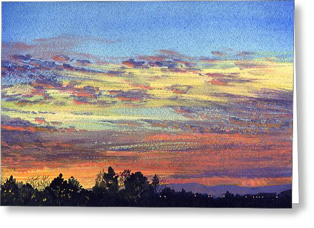 Robert Duvall Greeting Cards - Baylands Sunset Greeting Card by Robert Duvall