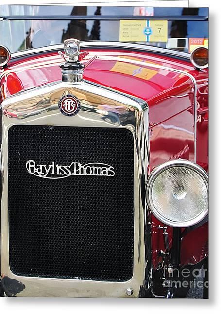 Bayliss Greeting Cards - Bayliss Thomas Badge and Emblem Greeting Card by Kaye Menner