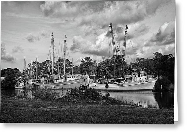 Crimson Tide Greeting Cards - Bayou LeBatre Shrimpboats Greeting Card by Michael Thomas