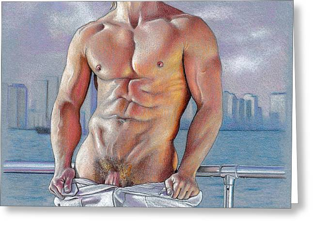 Bayside Greeting Card by Chance Manart