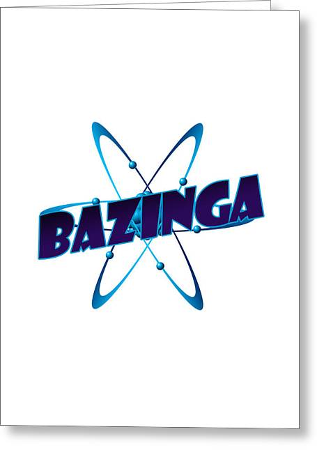 Internet Greeting Cards - Bazinga - Big Bang Theory Greeting Card by Bleed Art
