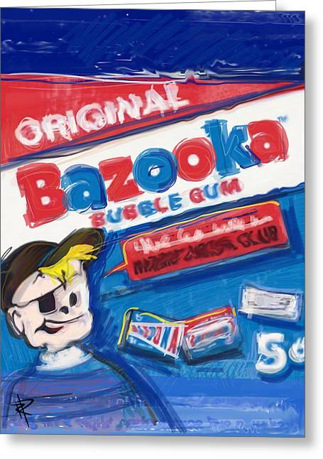 Patch Mixed Media Greeting Cards - Bazooka Greeting Card by Russell Pierce