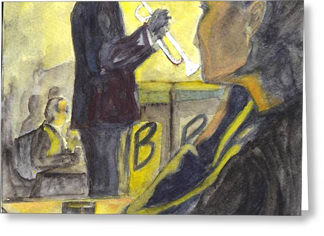 BB Jazz Greeting Card by Carol Wisniewski