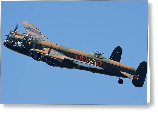 Bbmf Lancaster Bomber 2 Greeting Card by Ken Brannen