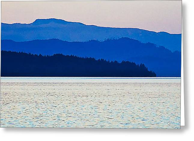 Ocean Vista Greeting Cards - BC Coastline at Twilight Greeting Card by Marion McCristall