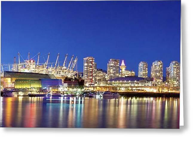 Bc Stadium City Panorama Greeting Card by Julius Reque
