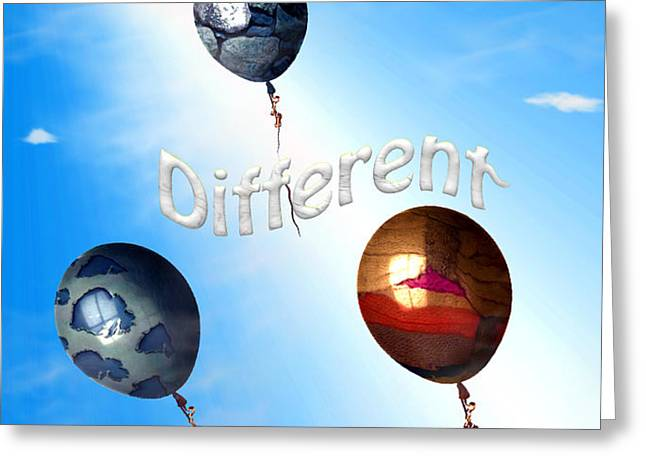 Be Different Greeting Card by Cheryl Young