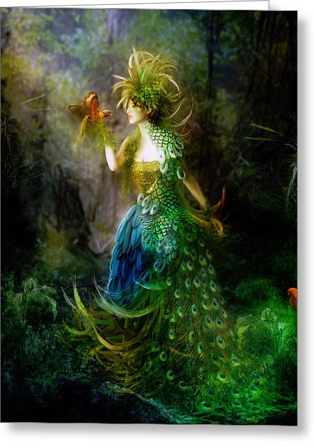 Dryads Greeting Cards - Be Free Little One Be Free Greeting Card by Karen H