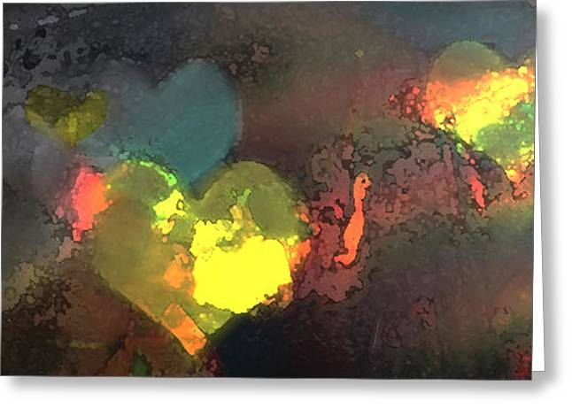 Recently Sold -  - Abstract Digital Pastels Greeting Cards - Be Love Greeting Card by Gina Barkley