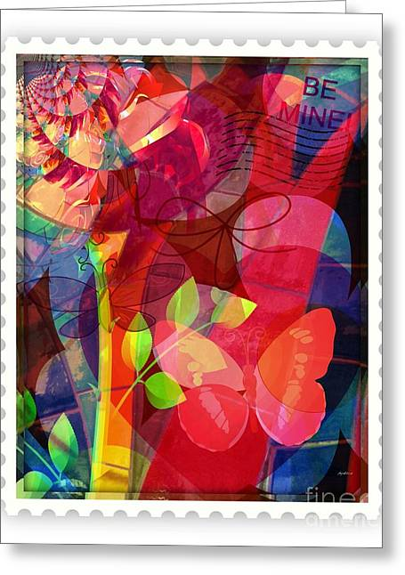 Diaspora Mixed Media Greeting Cards - Be Mine by Mail Greeting Card by Fania Simon