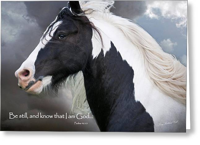 Reverence Digital Art Greeting Cards - Be Still and Know that I Am Greeting Card by Terry Kirkland Cook