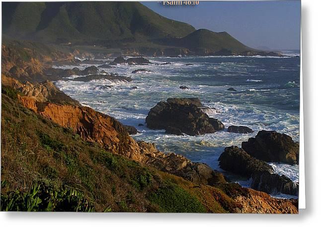 Big Sur California Greeting Cards - Be Still Greeting Card by TB Sojka