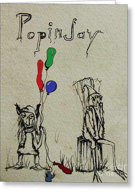 Storybook Greeting Cards - Be Wary of the Popinjay  Greeting Card by Hannah Lane