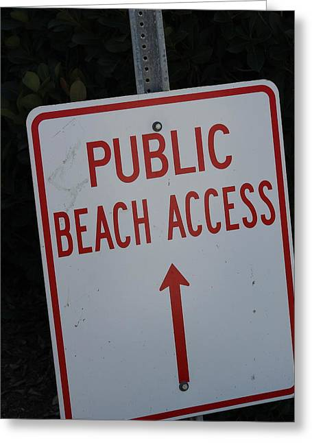 Beach Access Greeting Card by Static Studios